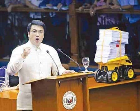 senator bong revilla speech