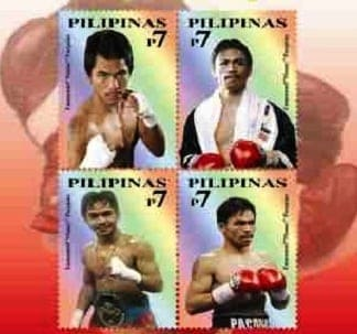 manny pacquiao postage stamp