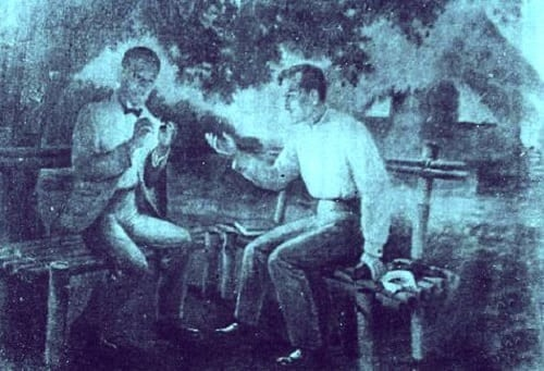 meeting of Dr. Jose Rizal and Dr. Pio Valenzuela in Dapitan