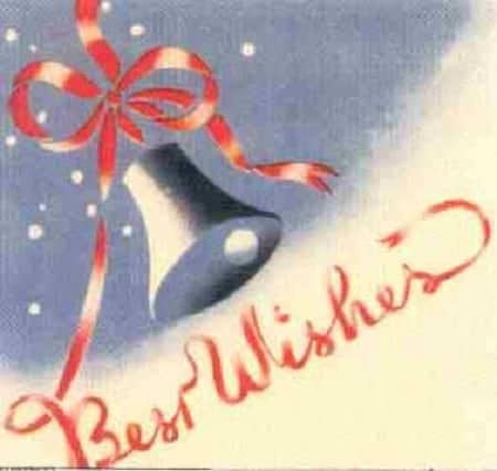 Japanese christmas card WWII
