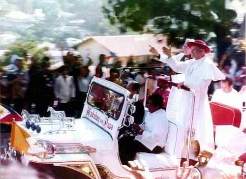 Pope John Paul II in a Jeepney-inspired Popemobile 1981