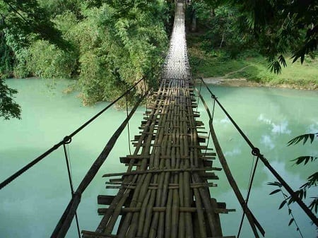 Tigbao Hanging Bridge in Bohol