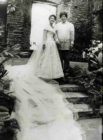 Irene Marcos 1981 wedding in Sarrat