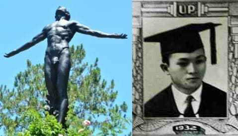 UP Baguio Oblation and Anastacio Caedo
