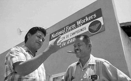 Cesar Chavez and Larry Itliong