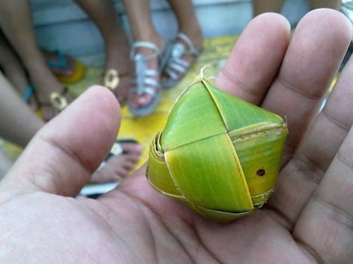 Coconut leaf ball