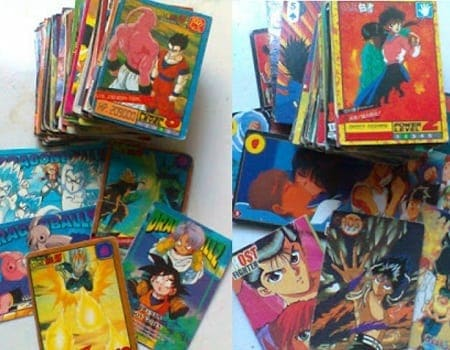 Ghost Fighter and Dragon Ball Z collectible cards