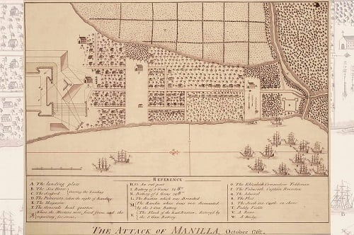 Map of the British Conquest of Manila