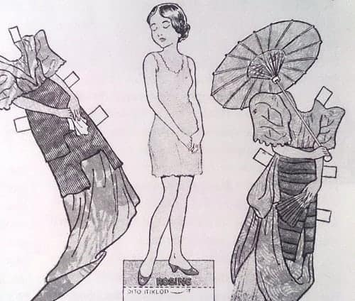 Rosing Filipina paper doll