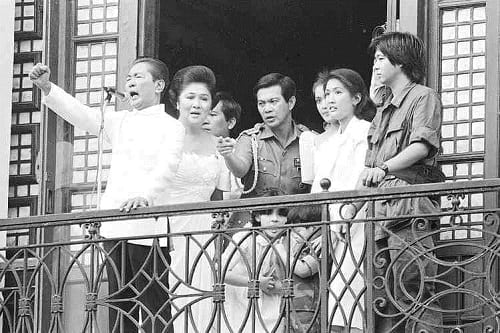 Last public appearance of the Marcos family in 1986