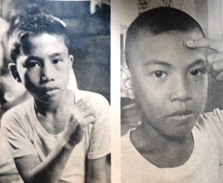 Manila face slashing crimes 1965