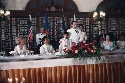 Meeting of the Marcoses and the Nixons in 1969 at the Malacañang Palace