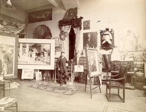 Juan Luna in his Paris studio