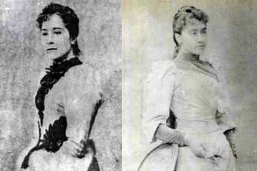 Nelly Boustead and Adelina Boustead