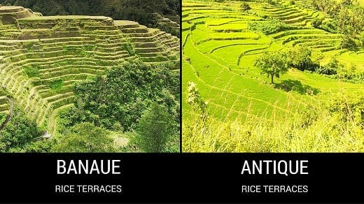Banaue Rice Terraces and Antique Rice Terraces