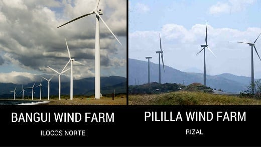 Bangui Wind Farm and Pililla Wind Farm