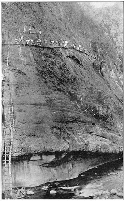 Benguet Road (now Kennon Road) during construction