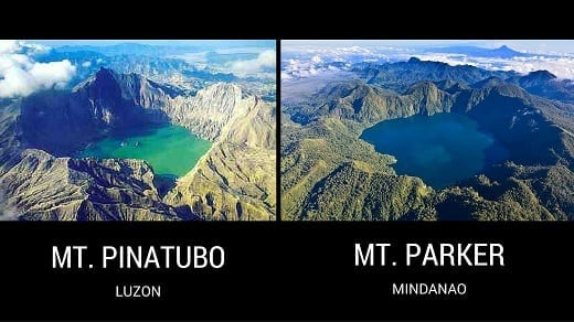 Mount Pinatubo and Mount Parker