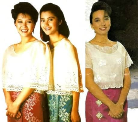 Old Philippine Airlines flight attendant uniforms