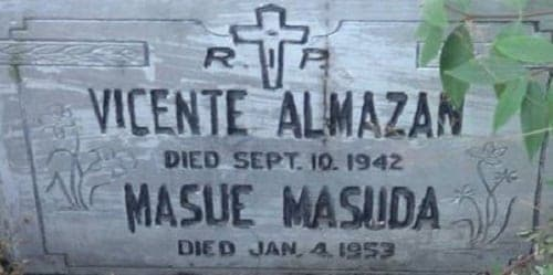 Tomb of Masue Masuda-Almazan and her husband, Vicente