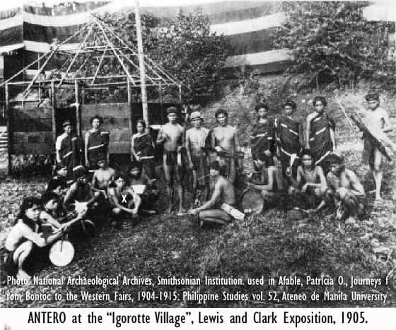 Antero at the 1905 Lewis and Clark Exhibition
