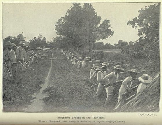 Filipino trenches in the Philippine-Americcan War