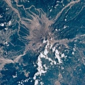 Mt. Pinatubo eruption space photos