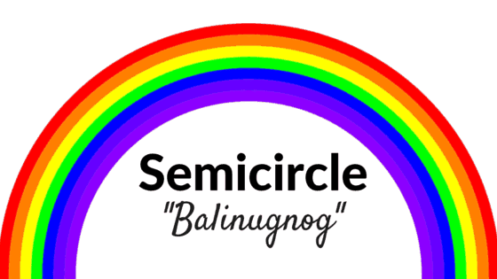 Semicircle in Filipino