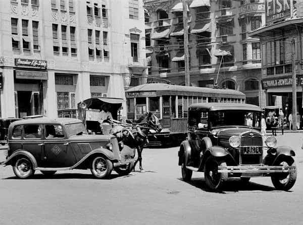 Plaza Moraga in 1935