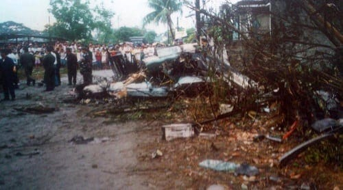 Crash site where Mary Grace Baloyo died