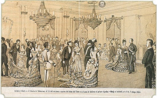 Grand ball held on the occasion of the Saint's Day of the King of Spain, 1878