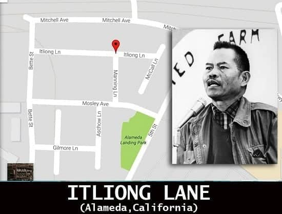 Itliong Lane in California
