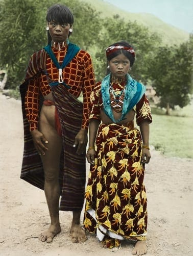 Kalinga couple in traditional dress