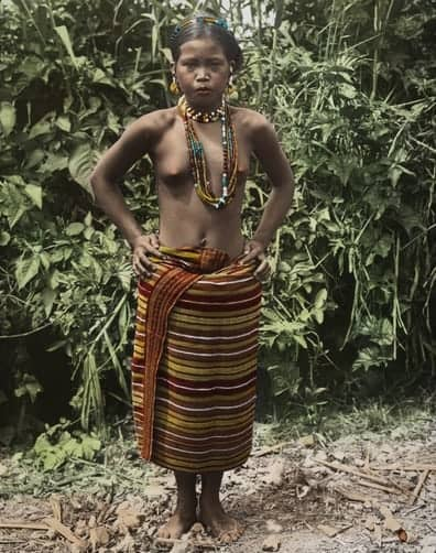Lubuagan Igorot woman in traditional clothing