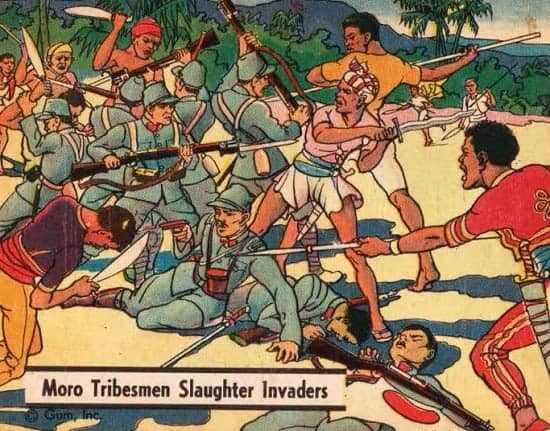 Moro warriors engaged in a battle