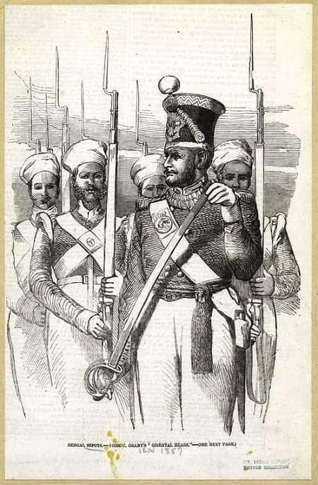 Sepoy soldiers