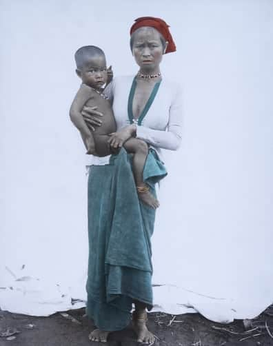 Subanon woman holding her child