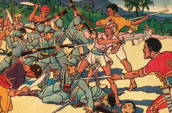 Use of opium by Moro warriors