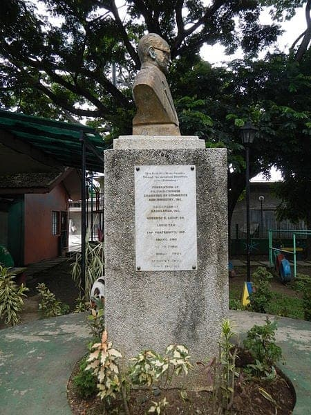 Bust of General Ye Fei at the Moises Amat Escueta Ala-ala Park in Tiaong, Quezon