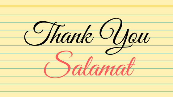 Thank You In Tagalog