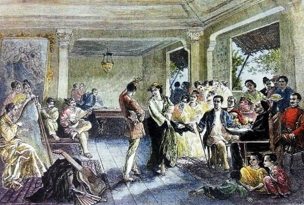 Party in 19th century Manila
