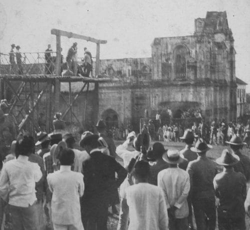 Public execution during the Philippine-American War