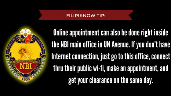 nbi clearance online appointment